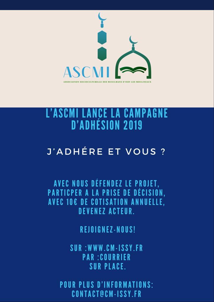 Campagne d'adhésion 2019